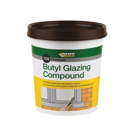 Everbuild 102 - Butyl Glazing Putty 2Kg - Brown