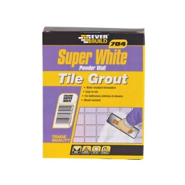 Everbuild 704 - Super White - Wall Tile Grout 3Kg