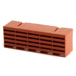 "Plastic Air Brick - Red - 9"" x 3"""