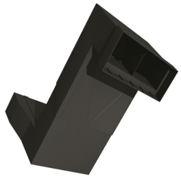 Telescopic Underfloor Vent - Black