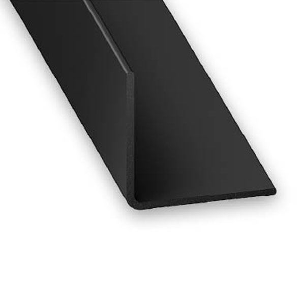 CQFD Plastic Corner - Black Gloss - 2Mt x 20mm x 20mm