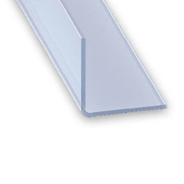 CQFD Plastic T-Trim - White - 2Mt x 25mm x 18mm