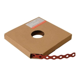 Plastic Coated Red Strapping - Fixing Band - 17mm x 10Mt