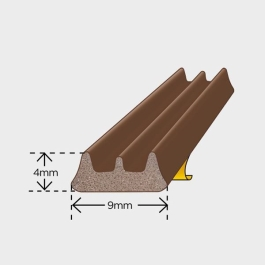 Exitex Draught Excluder 5Mt - E-Strip - Brown