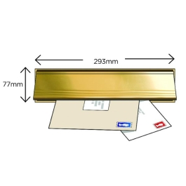 Exitex Letterbox with Flap - Gold