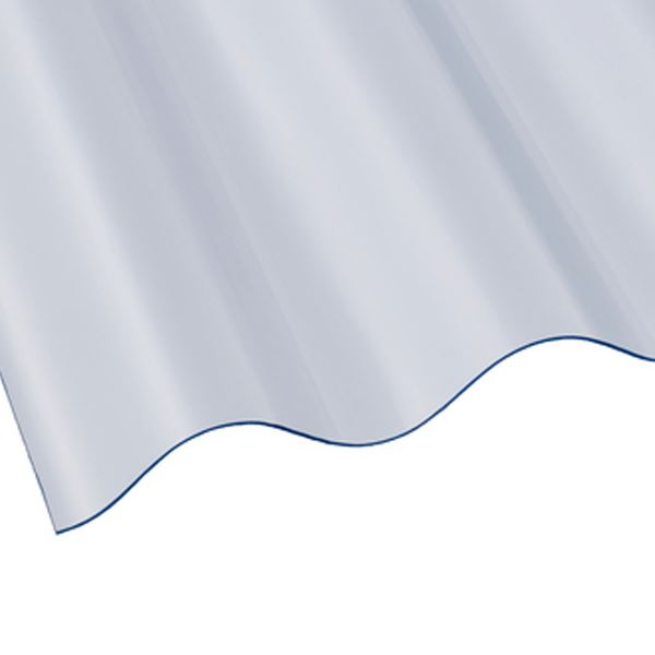 Corolux Mini - Corrugated Sheet - Clear - 8Ft x 24""