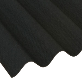 Coroline - Corrugated Bitumen Ridge - Black - 1000mm