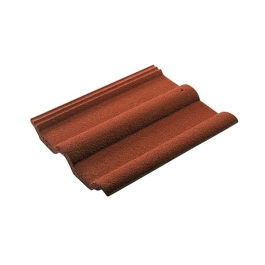 Roof Tile - Double Roman - Rustic - (Red / Black)