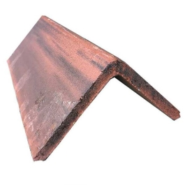 Ridge Tile - Angled - Smooth Brown (Antique)