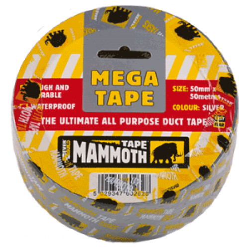 Everbuild Mammoth Duct Tape - 50mm x 50Mt - Black