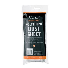 Harris Dust Sheet - Polythene - 12Ft x 9Ft - (3030)