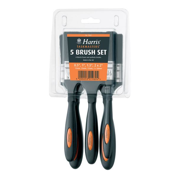 Harris Taskmaster Paint Brush - 5Pc Set - (1969)