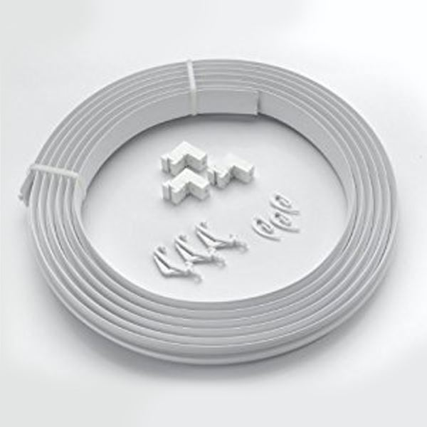 Universal PVC Curtain Track Coil & Fittings - 5.0Mt
