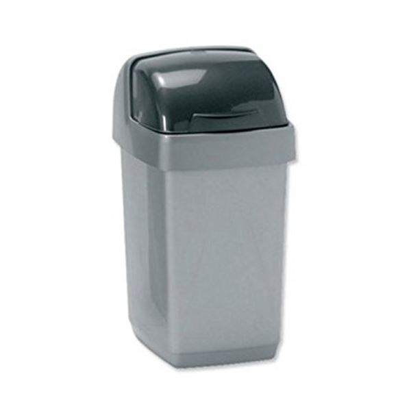 Addis Lift Bin 50Lt - Metallic Silver