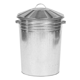 Dustbin With Lid Galvanised