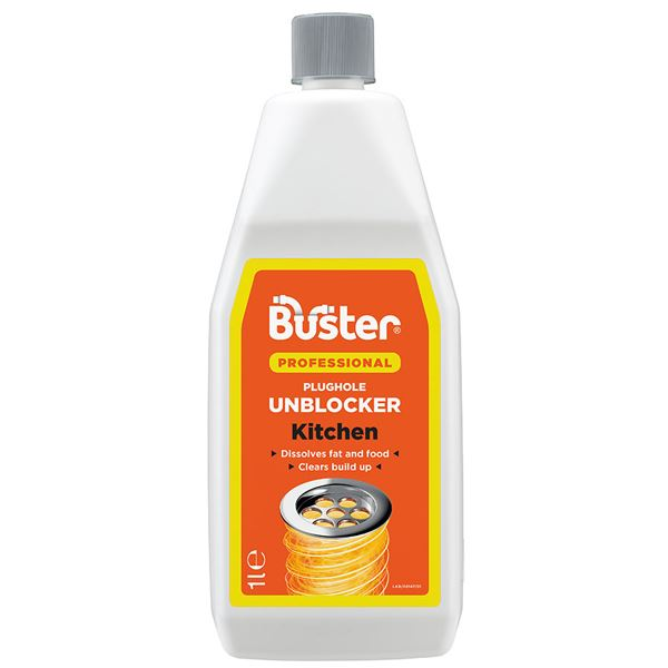 Buster Plughole Unblocker 1Lt - Kitchen - (Professional)