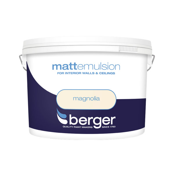 Berger Matt Emulsion 10Lt - Magnolia
