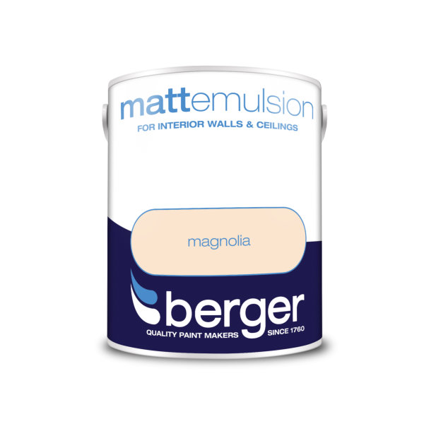 Berger Matt Emulsion 5Lt - Magnolia