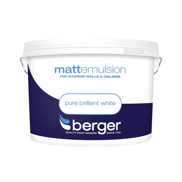 Berger Matt Emulsion 10Lt - Pure Brilliant White