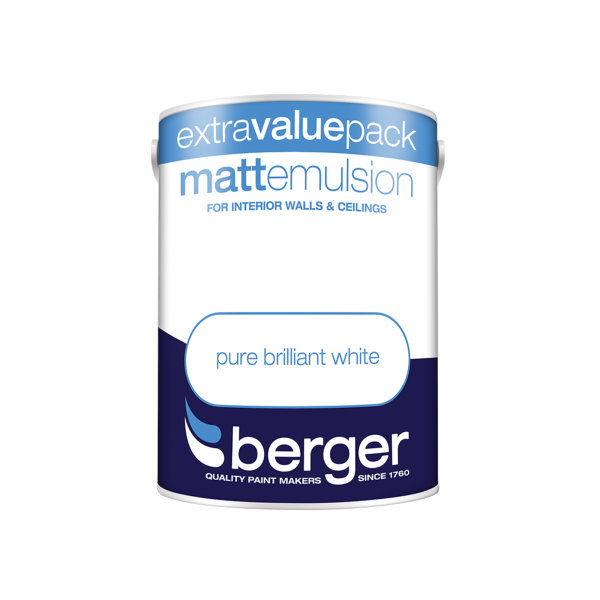 Berger Matt Emulsion 3Lt - Pure Brilliant White