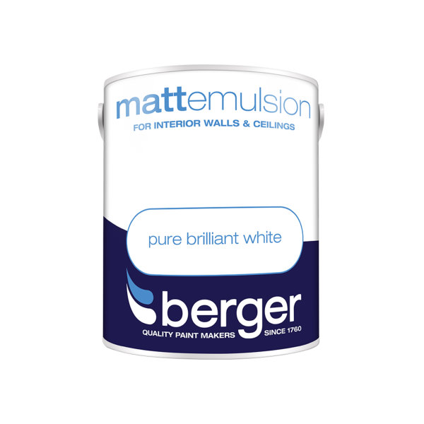 Berger Matt Emulsion 1Lt - Pure Brilliant White