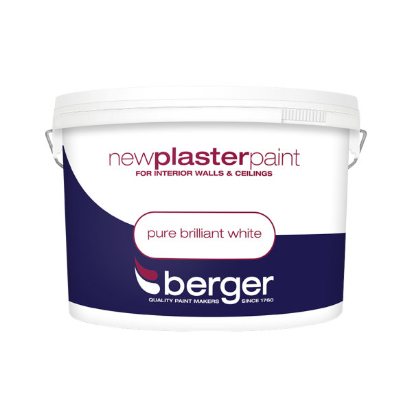 Berger Plaster Paint 10Lt - Pure Brilliant White