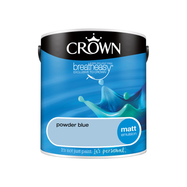 Crown Matt Emulsion 2.5Lt - Blues - Powder Blue