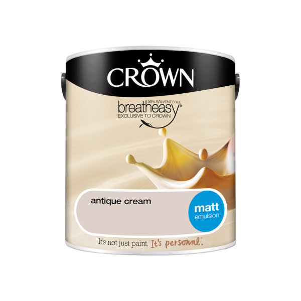 Crown Matt Emulsion 2.5Lt - Creams - Antique Cream