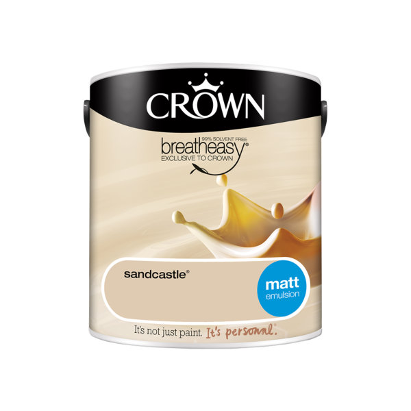 Crown Matt Emulsion 2.5Lt - Creams - Sandcastle