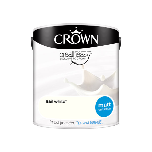 Crown Matt Emulsion 2.5Lt - Whites - Sail White