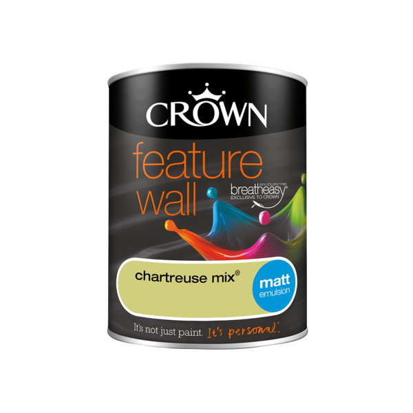 Crown Feature Wall Emulsion 1.25Lt - Chartreuse Mix