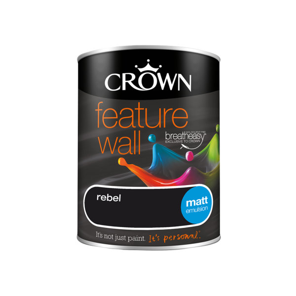 Crown Feature Wall Emulsion 1.25Lt - Rebel