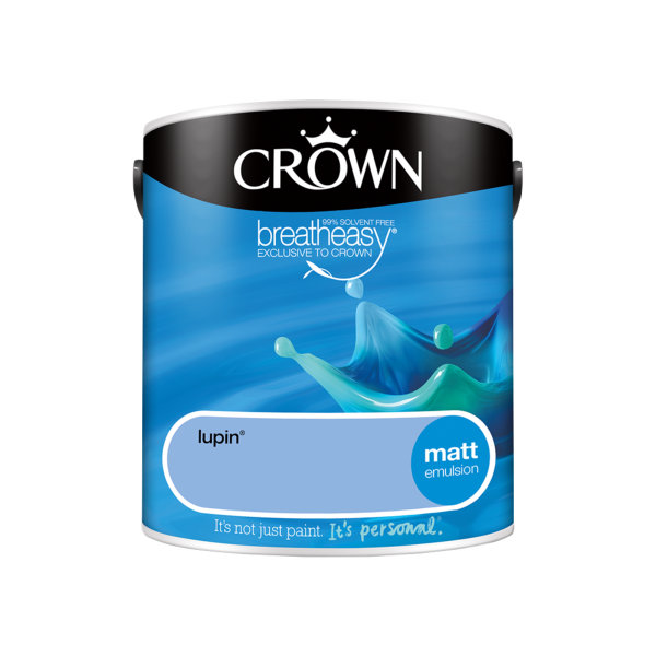 Crown Matt Emulsion 2.5Lt - Blues - Lupin