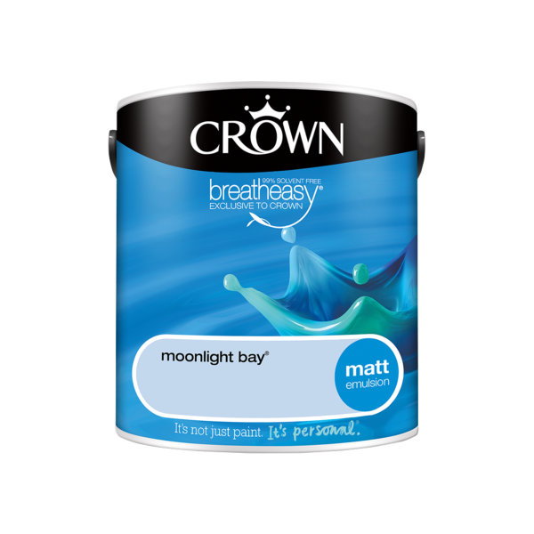 Crown Matt Emulsion 2.5Lt - Blues - Moonlight Bay