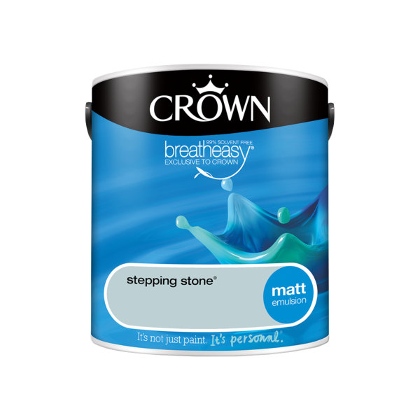 Crown Matt Emulsion 2.5Lt - Blues - Stepping Stone
