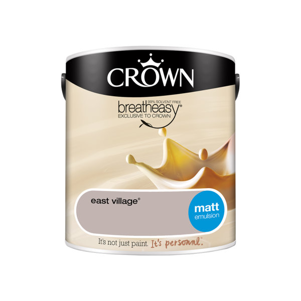Crown Matt Emulsion 2.5Lt - Creams - East Village