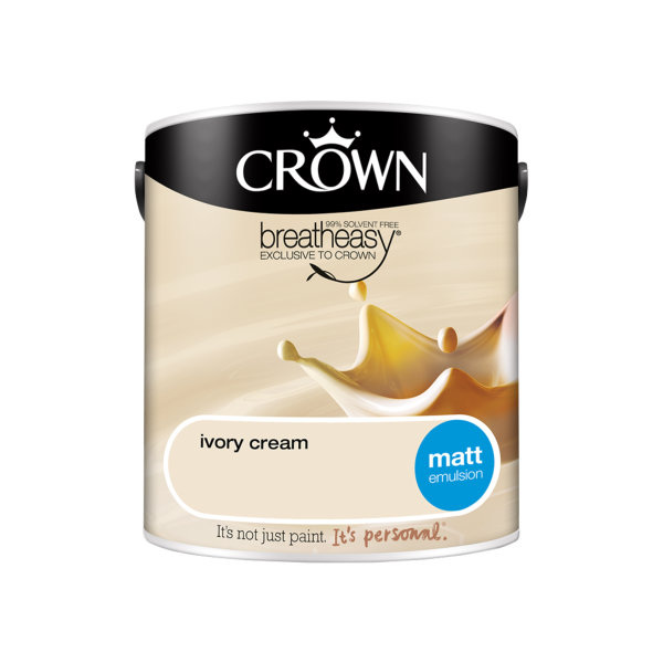 Crown Matt Emulsion 2.5Lt - Creams - Ivory Cream