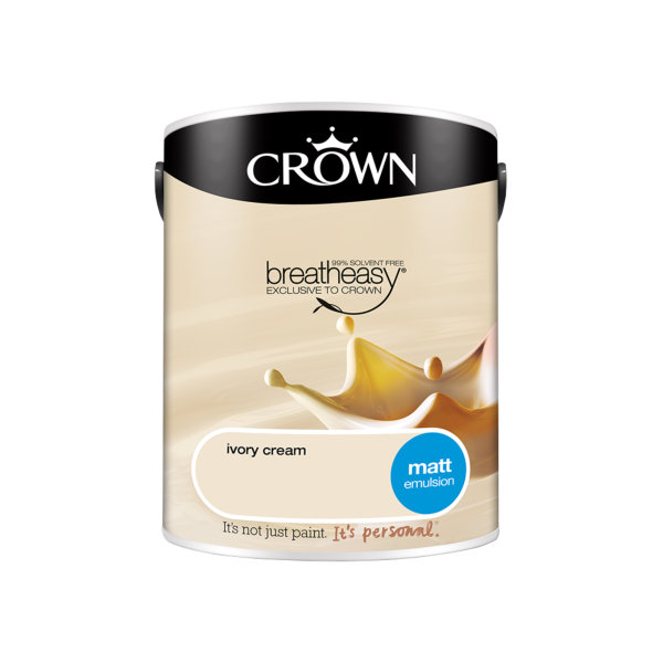 Crown Matt Emulsion 5Lt - Ivory Cream