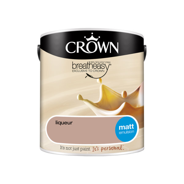 Crown Matt Emulsion 2.5Lt - Creams - Liqueur