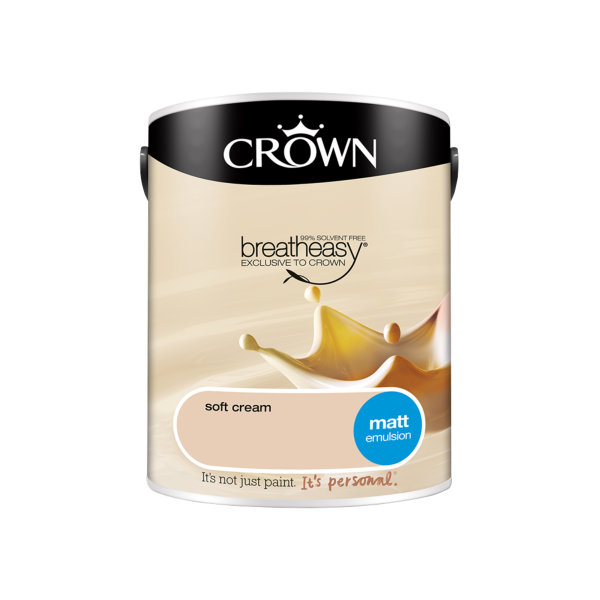 Crown Matt Emulsion 5Lt - Soft Cream