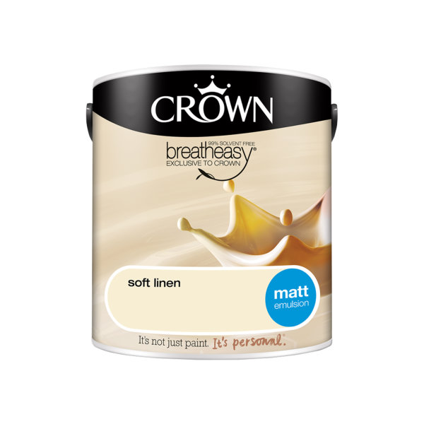 Crown Matt Emulsion 2.5Lt - Creams - Soft Linen