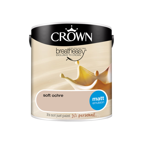 Crown Matt Emulsion 2.5Lt - Creams - Soft Ochre