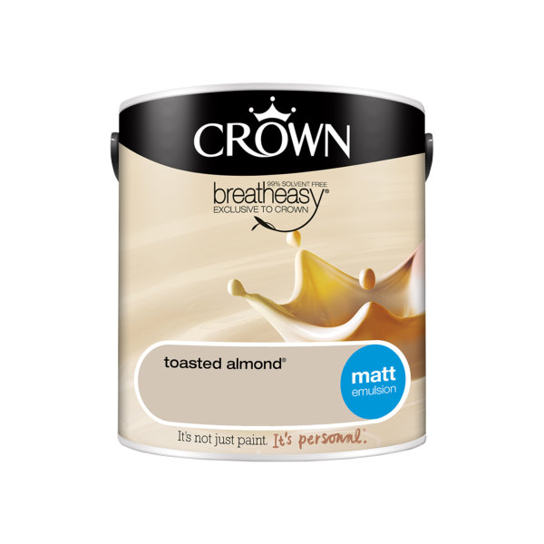 Crown Matt Emulsion 2.5Lt - Creams - Toasted Almond