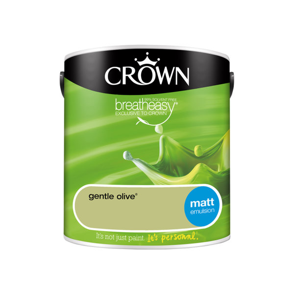 Crown Matt Emulsion 2.5Lt - Greens - Gentle Olive