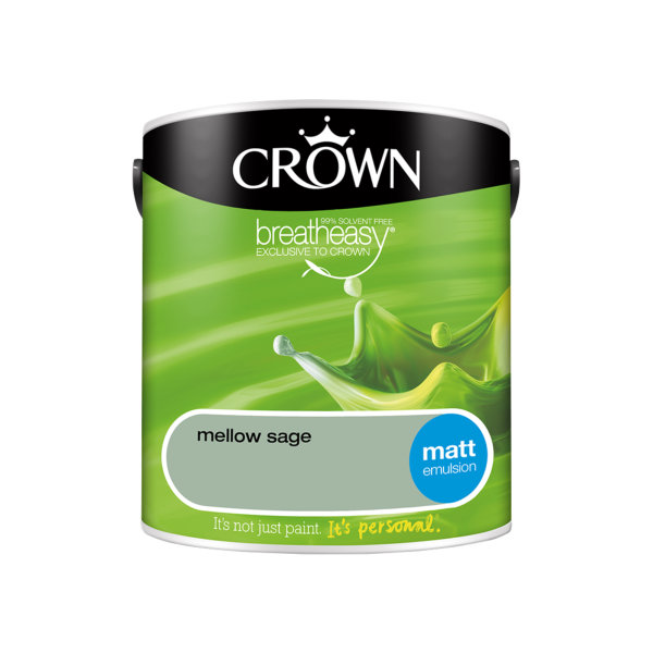 Crown Matt Emulsion 2.5Lt - Greens - Mellow Sage