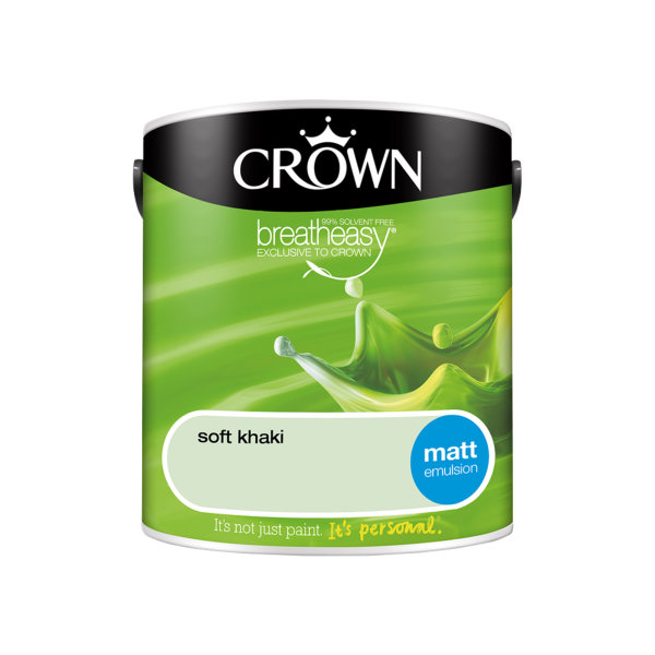Crown Matt Emulsion 2.5Lt - Greens - Soft Khaki