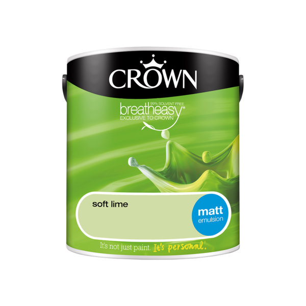 Crown Matt Emulsion 2.5Lt - Greens - Soft Lime