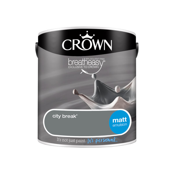 Crown Matt Emulsion 2.5Lt - Greys - City Break