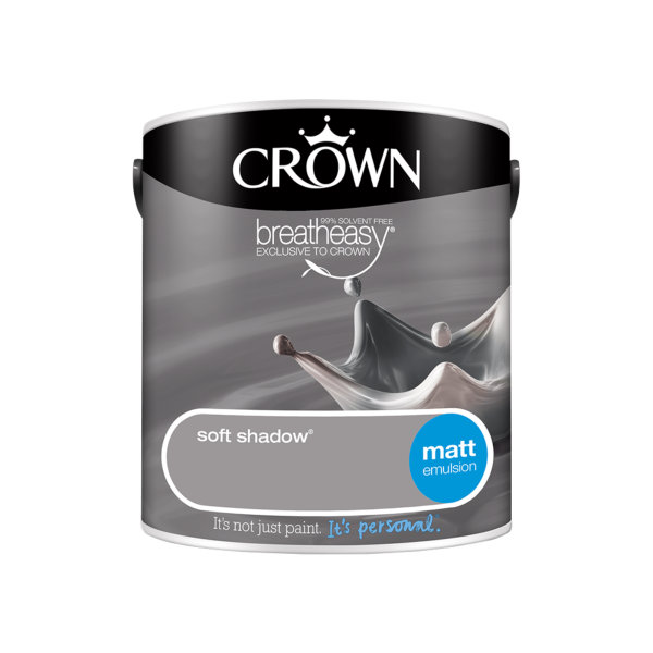 Crown Matt Emulsion 2.5Lt - Greys - Soft Shadow