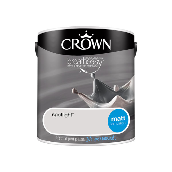 Crown Matt Emulsion 2.5Lt - Greys - Spotlight